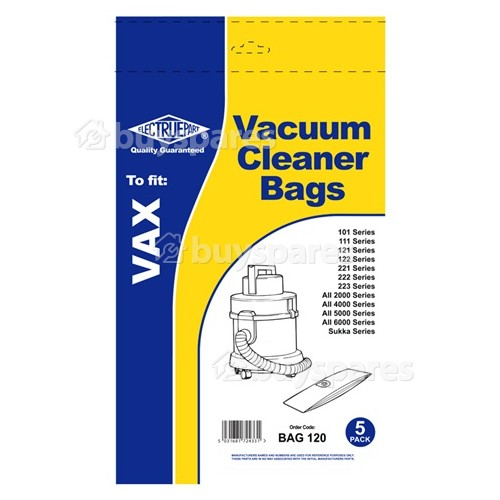 Vax 1S Vacuum Dust Bag (Pack Of 5) - BAG120