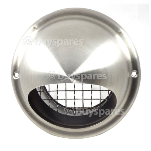 100mm Bull-Nose Vent With Grill - Stainless Steel