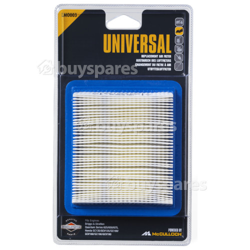 Universal Powered By McCulloch LMO003 Lawnmower Filter