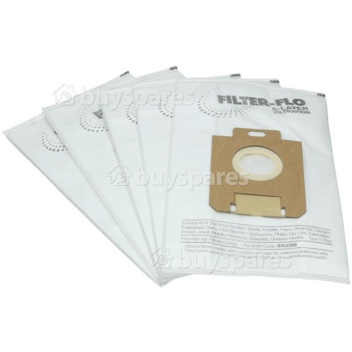 Everglades S-Bag Classic Filter-Flo Synthetic Dust Bags (Pack Of 5) - BAG355