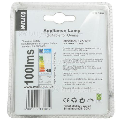 Lampada Da Forno Pigmea Universale 15W Ses (E14) Wellco