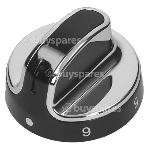 Stoves Hob Control Knob - Black / Chrome