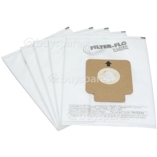 Aka H63 Filter-Flo Synthetic Dust Bags (Pack Of 5) - BAG346