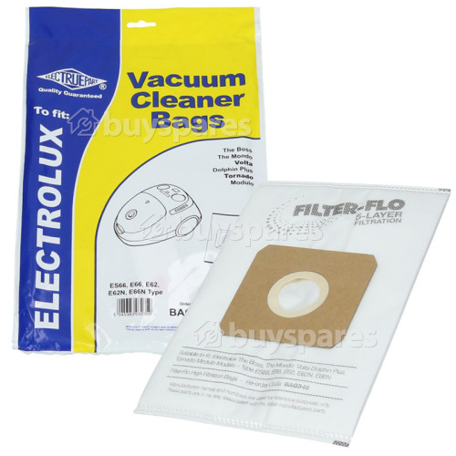 Heinner ES66 Filter-Flo Synthetic Dust Bags (Pack Of 5) - BAG348