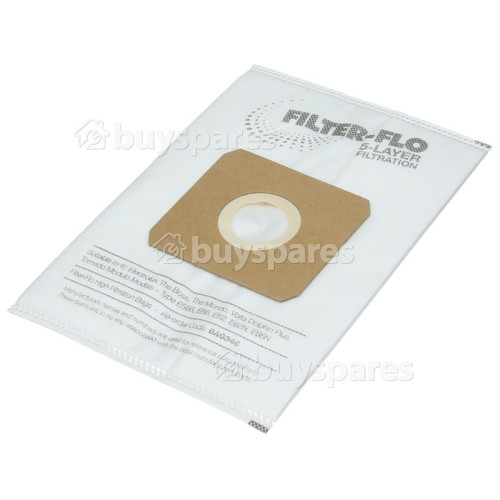 King Clean ES66 Filter-Flo Synthetic Dust Bags (Pack Of 5) - BAG348
