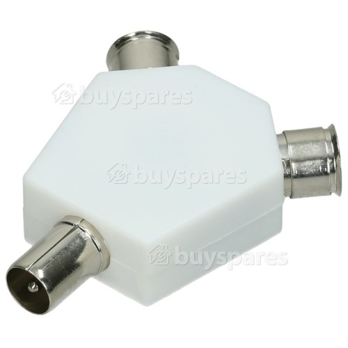 Wellco Co-axial Plug To 2 Sockets (Pack Of 10)