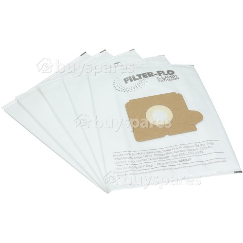 Hugin ES53 Filter-Flo Synthetic Dust Bags (Pack Of 5) - BAG347