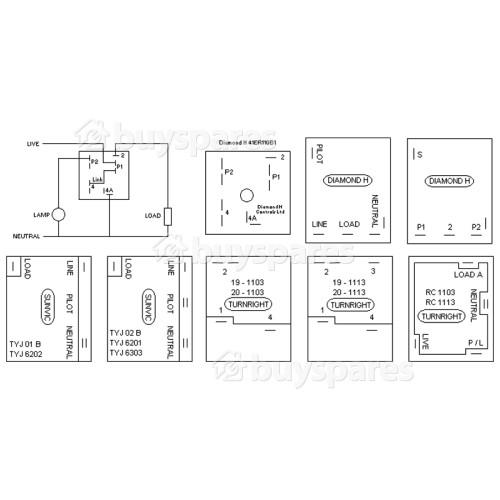 Ring Lighting Hotplate Energy Regulator : Diamond H 41ER110B1