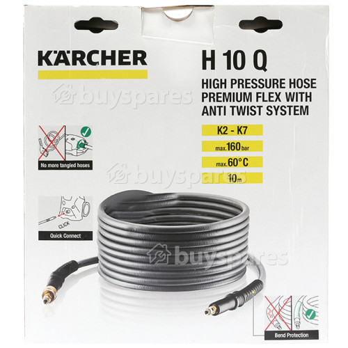 Karcher H10Q Flexible High Pressure Premium Anti Twist Hose - 10m