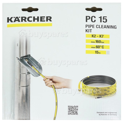 Karcher K2-K7 Drain Pipe Cleaning Hose - 15m