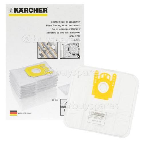 Karcher Fleece Paper Bag (Pack Of 5)