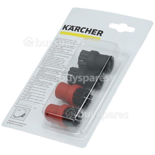 Set Di Spazzola Circolare Per Pulitrice A Vapore (Nylon) - Confezione Da 4 Karcher