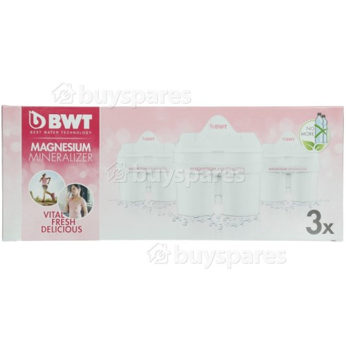 BWT Long Life MG2+ Water Filter Jug Cartridge (Pack Of 3)