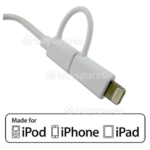 1.0m Lightning & Micro USB Cable - White