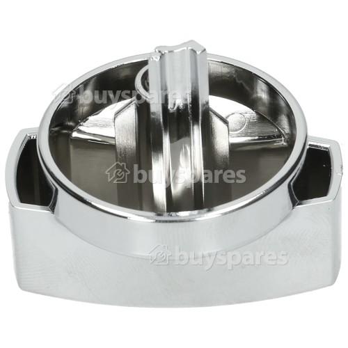 Hob Burner Control Knob - Silver