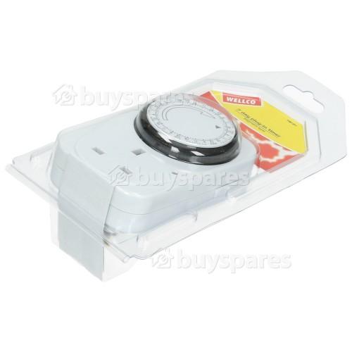 Wellco 7 Day Plug-in Segment Timer - UK Plug