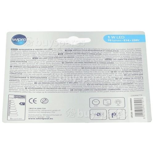 Indesit 1W SES (E14) Kühl-/Gefrierschrank-Glühbirne