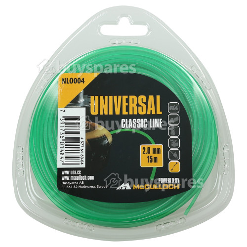 Universal Powered By McCulloch NLO004 Nylon Trimmerfaden
