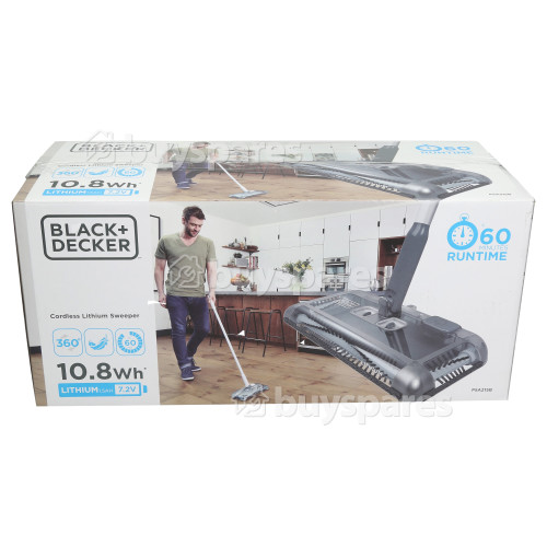Black & Decker 7.2V Lithium-Ion Floor Sweeper