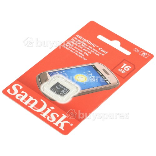 Sandisk 16GB Micro SD-HC Speicherkarte Mit Hoher Speicherkapazität