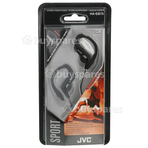 JVC HAEB75 Clip-On Earphones - Black