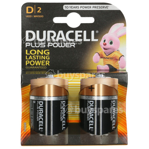 Duracell D Batteries (Pack 2) Single Card