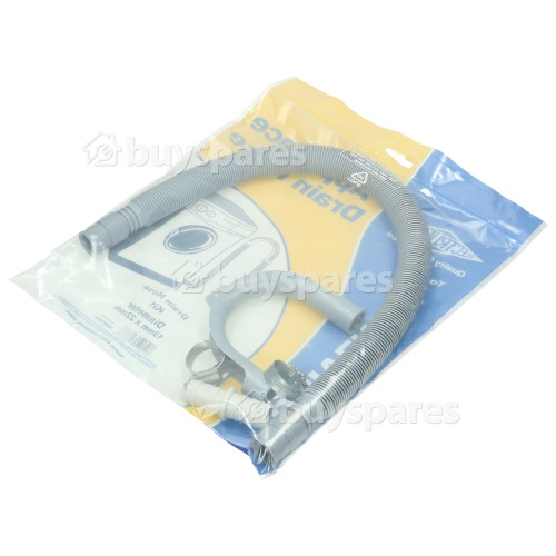 Universal Straight Drain Hose Kit 19mm To 22mm