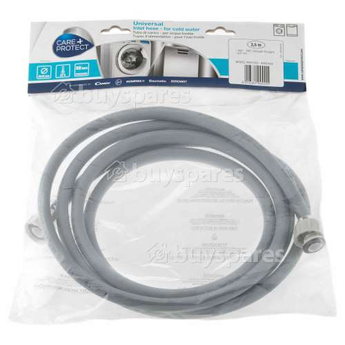Care+Protect Universal Cold Water Inlet Hose (Grey) - 3.5m