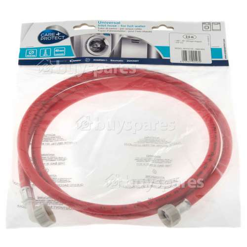 Care+Protect Universal Hot Water Inlet Hose (Red) - 2.5m