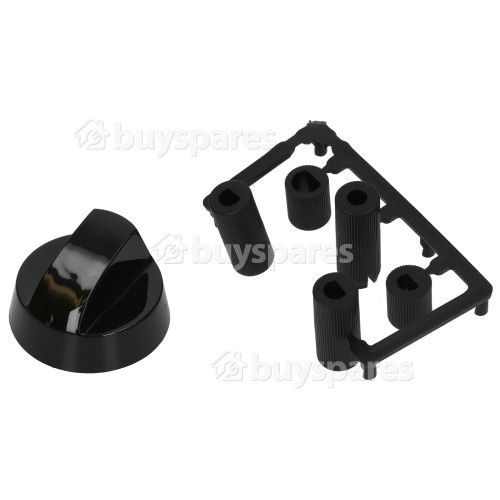 Universal Multifit Cooker Control Knob - Black