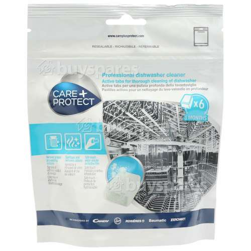 Care+Protect Professional Dishwasher Cleaner (Pack Of 6)