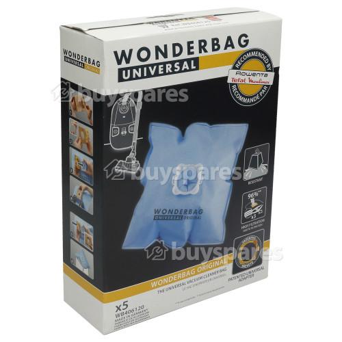 Rowenta Universal Wonderbag Original Vacuum Cloth Bag (Pack Of 5)DER