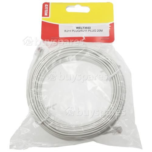 Avix ADSL 20m Modemkabel RJ11 Stecker Auf RJ11 Stecker