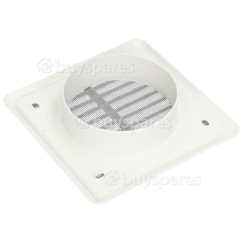 Wall Outlet Louvred/Gravity Grill Round Spigot With Fly Screen