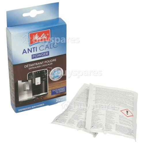 Melitta Espresso Machine Descaling Powder Pack Of 2