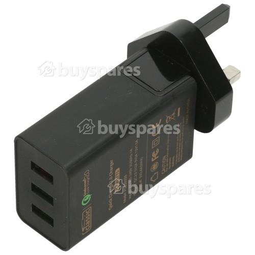 Asus Steckernetzteil / USB-Ladegerät QuickCharge Qualcomm 2.0 3 Schnittstellen - GB Stecker