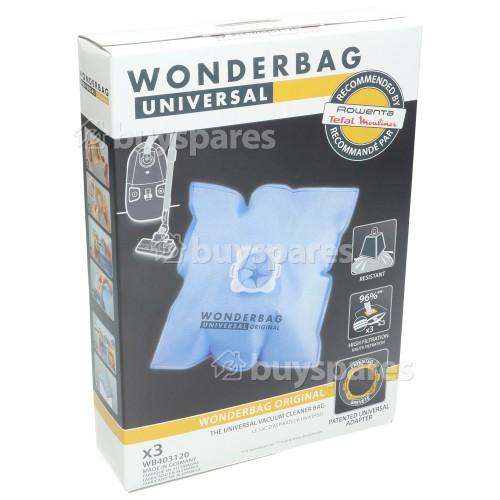 Tefal Wonderbag WB403120 Classic Vacuum Cleaner Bag - Pack Of 3