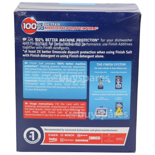 Finish BDF671W Dishwasher Salt - 3Kg