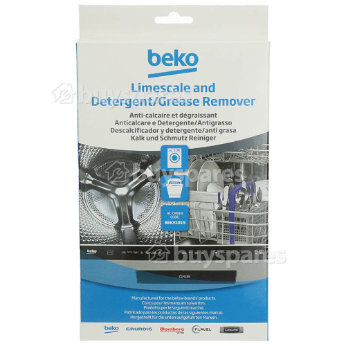 Beko Washing Machine / Dishwasher Limescale & Detergent Remover (Pack Of 6)
