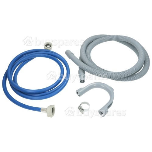 Universal Washing Machine 2.5m Cold Fill & Drain Hose Extension Kit