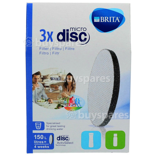 Brita Fill & Go MicroDisc Filters (Pack Of 3)