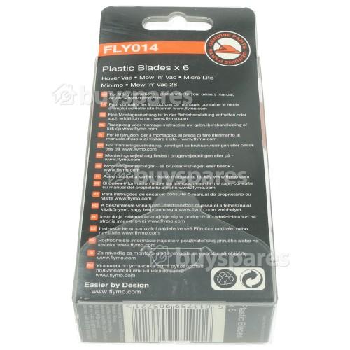 Flymo FLY014 Kunststoffmesser (6er Packung)