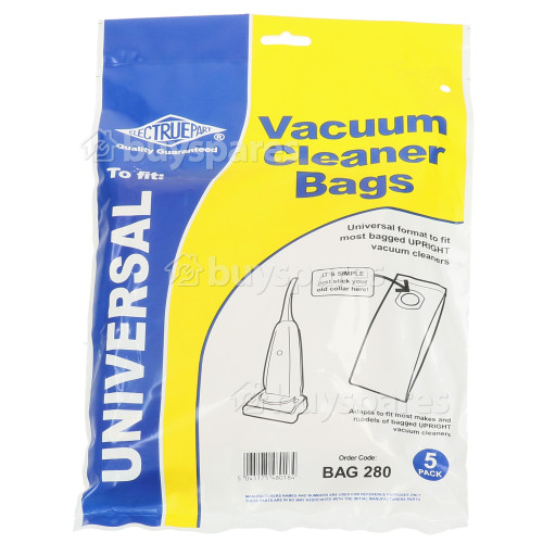 Universal Upright Vacuum Adaptor Bag (Pack Of 5) - BAG280