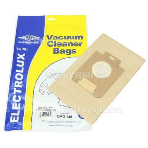 Elexavox E15 E40 E200 & E200B Dust Bag (Pack Of 5) - BAG140
