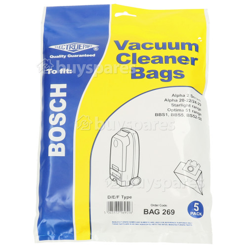 D/E/F Dust Bag (Pack Of 5) - BAG269