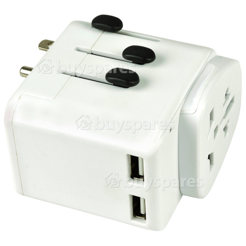 Mondial World Travel Adaptor With Dual USB Ports