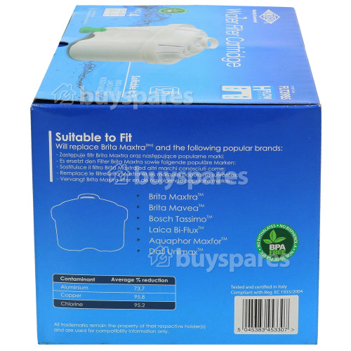 BWT Compatible Brita Maxtra Water Filter Cartridge - Pack Of 4