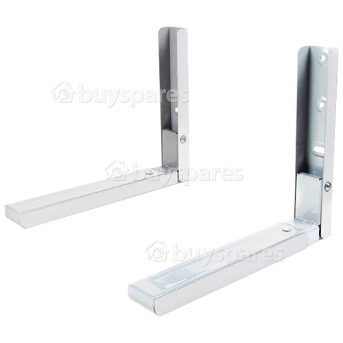 Wellco Microwave Oven Wall Bracket (Pair) White