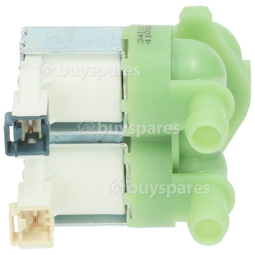 Korting Cold Water Double Inlet Solenoid Valve : 180Deg. With 12 Bore Outlets & Protected (push) Connector Pins