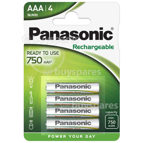 Panasonic Evolta AAA NiMH Ready To Use Rechargeable Batteries (Pack Of 4)